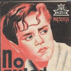 Cine: PROGRAMA DOBLE - ¡ NO QUIERO ... NO QUIERO ! - FRED GALIANA, ENRIQUETA SOLER - PRINCIPAL CINEMA 1939. Lote 165037026