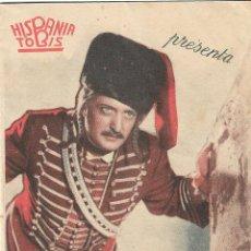 Cine: PROGRAMA DOBLE - CORAZÓN DE FUEGO - HANS ALBERS, KATHE DORSCH - TEATRO PRINCIPAL - 1943.. Lote 165037906