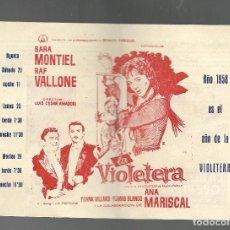 Cine: FOLLETO DE MANO DE 4 HOJAS Y PROGRAMA DE FIESTA MAYOR 1958, CINE UNIÓN RIBARROJA DE EBRO. VER DESCRI. Lote 165067166