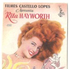 Cine: PTCC 037 LAS MODELOS PROGRAMA SENCILLO RITA HAYWORTH GENE KELLY MUY RARO. Lote 165081670