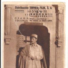 Cine: PTCC 037 BAROUD PROGRAMA TARJETA ORPHEA FILM REX INGRAM ALICE TERRY ROSITA GARCIA. Lote 165083418