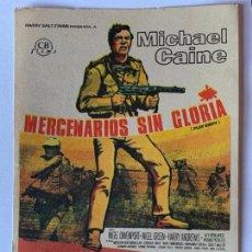 Cine: PROGRAMA DE CINE MERCENARIOS SIN GLORIA. SIN PUBLICIDAD.. Lote 165094990