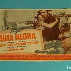 Cine: BAHÍA NEGRA. JAMES STEWARD. JOANNE DRU. PUBLICIDAD SALA ARGENTONA 1954. Lote 165244294