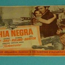 Cine: BAHÍA NEGRA. JAMES STEWARD. JOANNE DRU. PUBLICIDAD ROSALEA. SEGORBE 1954. Lote 165244742