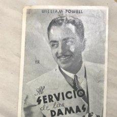Cine: AL SERVICIO DE LAS DAMAS, WILLIAM POWELL C/P. Lote 165306106
