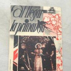 Cine: A LLEGAR LA PRIMAVERA FOLLETO DE MANO SIN PUBLICIDAD. Lote 165354674
