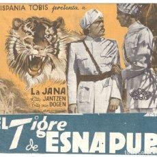 Cine: PTCC 041 EL TIGRE DE ESNAPUR PROGRAMA DOBLE HISPANIA TOBIS LA JANA. Lote 165378622