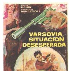 Cine: PTCC 042 VARSOVIA SITUACION DESESPERADA PROGRAMA SENCILLO IFISA ROGER HANIN ESPIAS EURO SPY. Lote 165500206