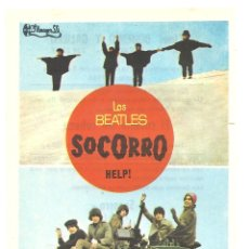 Cine: PTCC 042 HELP SOCORRO PROGRAMA SENCILLO FILMAYER THE BEATLES . Lote 165501346