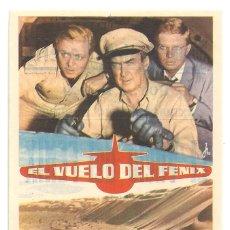 Cine: PTCC 042 EL VUELO DEL FENIX PROGRAMA SENCILLO 20TH CENTURY FOX JAMES STEWART PETER FINCH BORGNINE. Lote 165508058