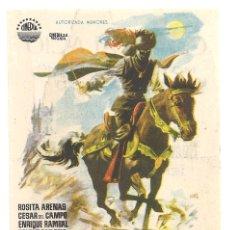 Cine: PTCC 042 LA SOMBRA DE CRUZ DIABLO PROGRAMA SENCILLO CINEDIA CINE MEJICANO ROSITA ARENAS. Lote 165510690