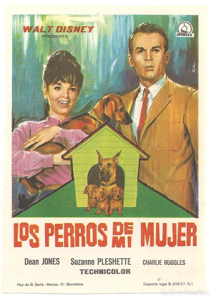 PTCC 042 LOS PERROS DE MI MUJER PROGRAMA SENCILLO DIPENFA WALT DINEY (Cine - Folletos de Mano - Infantil)