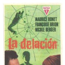 Cine: PTCC 042 LA DELACION PROGRAMA SENCILLO RADIO FILMS MAURICE RONET. Lote 165513442