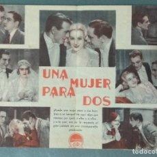 Cine: UNA MUJER PARA DOS 1935 - PROGRAMA DE MANO DOBLE. Lote 165539566