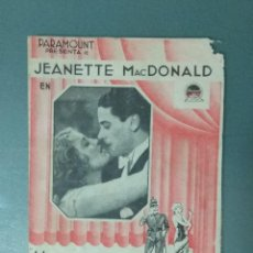 Cine: MONTE CARLO (1931). PROGRAMA DE MANO DOBLE. . Lote 165541174