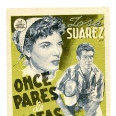 Cine: ONCE PARES DE BOTAS, CON JOSÉ ISBERT. S/I.. Lote 165582982