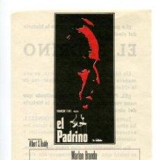 Cine: EL PADRINO, CON MARLON BRANDO.. Lote 165584330