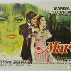Cine: FOLLETO DE CINE, MARTA, AÑOS 60, SIN PUBLICIDAD. Lote 165639470