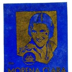 Cine: MORENA CLARA, CON IMPERIO ARGENTINA. EN PAPEL CELOFAN.. Lote 165660670