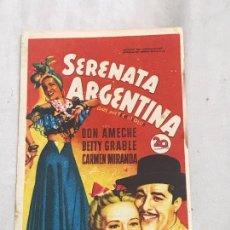 Cinema - Serenata argentina - Programa de cine Badalona C/P - 165674842