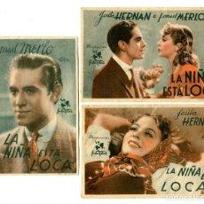 Cine: LA NIÑA ESTÁ LOCA, CON JOSITA HERNAN.. Lote 165741814