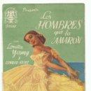Cine: PROGRAMA DE MANO ORIGINAL DOBLE DE CINE LOS HOMBRES QUE LA AMARON 1945. Lote 165753658