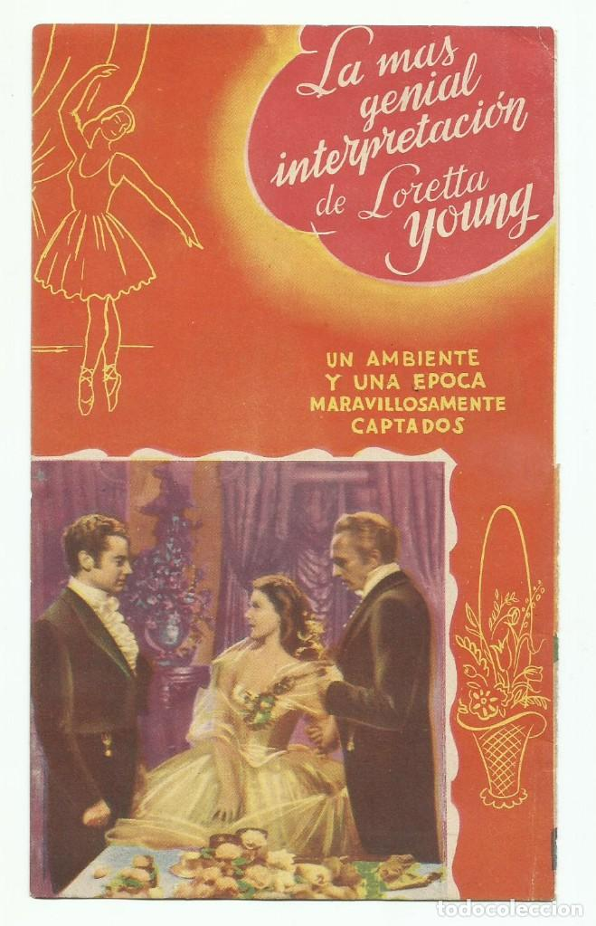 Cine: Programa de Mano Original Doble de cine LOS HOMBRES QUE LA AMARON 1945 - Foto 2 - 165753658