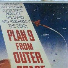 Cine: PLAN 9 - FROM THE OUTER SPACE (TÍTULO EN INGLÉS) (REPRODUCCIÓN) 65CM X 99CM. Lote 287644128