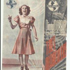 Cine: PROGRAMA ORIGINAL DOBLE GRANDE TRES DIABLILLOS - DIANA DURBIN. Lote 165796178