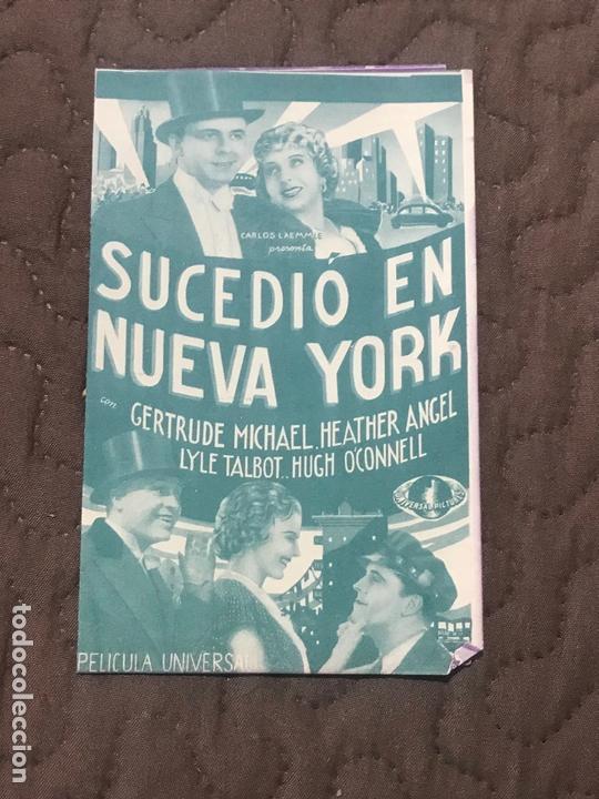 SUCEDIO EN NUEVA YORK - PROGRAMA DE MANO DOBLE ORIGINAL - AÑO 1935 S/P (Cine - Folletos de Mano - Musicales)