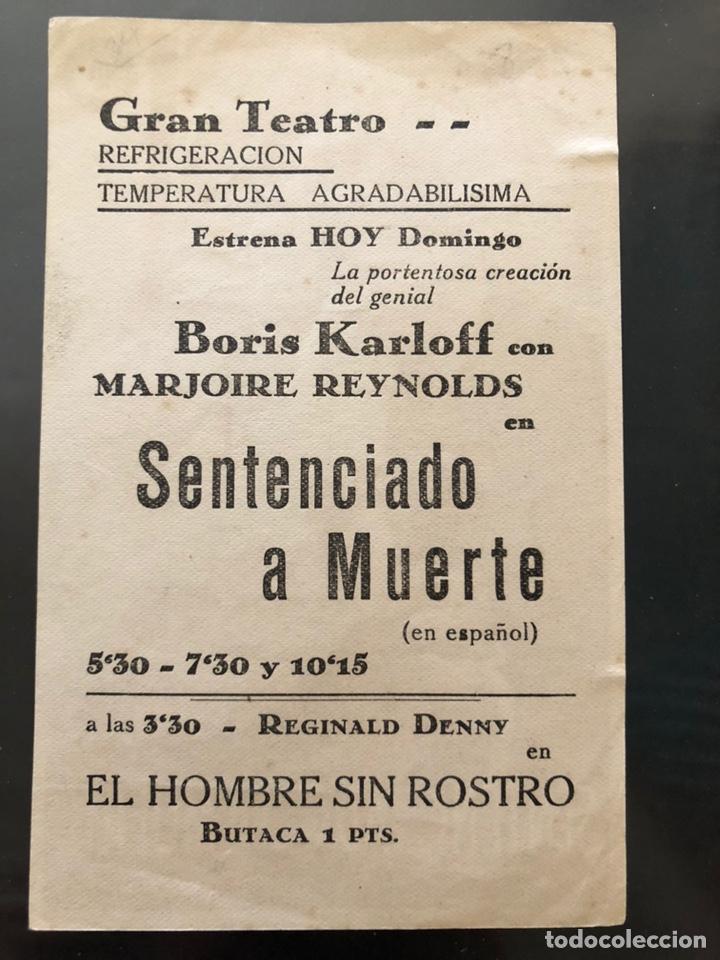 Cine: Programa sentenciado a muerte boris karloff - Foto 2 - 165980390