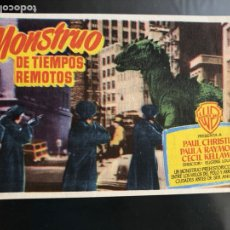 Folhetos de mão de filmes antigos de cinema: PROGRAMA EL MONSTRUO DE OTROS TIEMPOS.PAUL CHRISTIAN. Lote 165985050