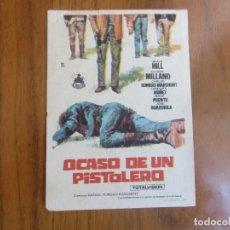 Cine: PROGRAMA DE CINE FOLLETO DE MANO-OCASO DE UN PISTOLERO-AÑOS 50-. Lote 166032198