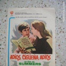 Cine: FOLLETO DE MANO ADIOS CIGUEÑA ADIOS ,SIN ESCRITOS POR DETRAS. Lote 166042446