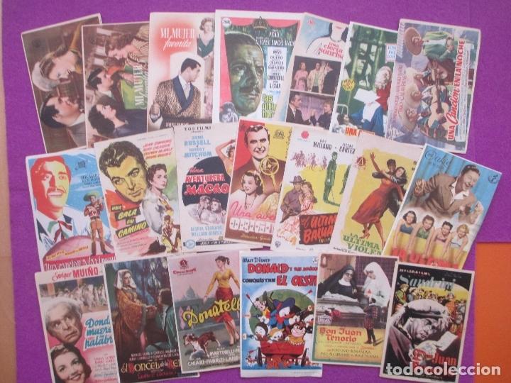 Cine: LOTE 120 PROGRAMAS DE CINE, PROGRAMA CINE, DIFERENTES, VER FOTOS ADICIONALES, LTC3 - Foto 2 - 166139198