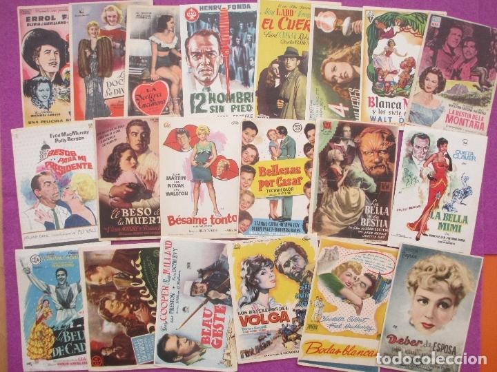 Cine: LOTE 120 PROGRAMAS DE CINE, PROGRAMA CINE, DIFERENTES, VER FOTOS ADICIONALES, LTC3 - Foto 3 - 166139198