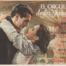 Cine: FOLLETO CINE PELÍCULA EL ORGULLO DE LOS YANQUIS GARY COOPER 1943 CINE IMPERIAL MADRID?. Lote 166158486
