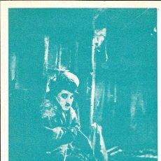 Cine: PROGRAMA DE CINE - LA QUIMERA DEL ORO - CHARLES CHAPLIN CHARLOT - MÁLAGA CINEMA (MÁLAGA) - 1962.. Lote 166171826