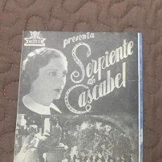 Cine: LA SERPIENTE DE CASCABEL PROGRAMA DOBLE CIFESA S/P. Lote 166265086