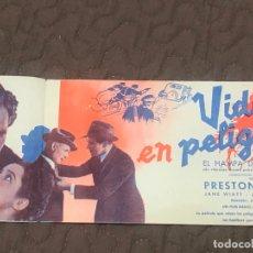 Cine: VIDAS EN PELIGRO, CON PRESTON FOSTER. S/I.. Lote 166271134