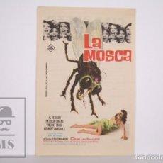 Flyers Publicitaires de films Anciens: PROGRAMA DE CINE SIMPLE - LA MOSCA - AL EDISON / PATRICIA OWENS - PUBLICIDAD AL DORSO. Lote 166271174