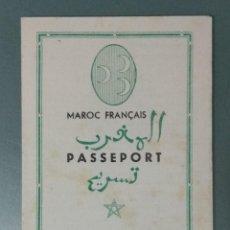 Folhetos de mão de filmes antigos de cinema: CASABLANCA - 1947 - PROGRAMA DOBLE DE MANO EN FORMA DE PASAPORTE.. Lote 166322358