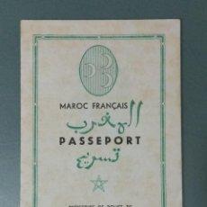 Flyers Publicitaires de films Anciens: CASABLANCA - 1947 - PROGRAMA DOBLE DE MANO EN FORMA DE PASAPORTE.. Lote 166322538