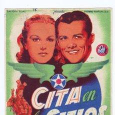 Cine: PROGRAMA AÑOS 40. CINE LA LINEA. IMPERIAL CINEMA Y TEATRO DEL PARQUE. Lote 166331686