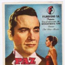 Cine: PROGRAMA AÑOS 40. FORMATO GRANDE. CINE DE ALCOY. . Lote 166333058