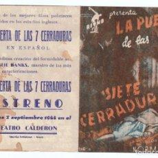 Cine: PROGRAMA DOBLE AÑOS 40. CINE DE ALCOY. BUENA CONSERVACIÓN. . Lote 166334270