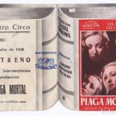 Cine: PROGRAMA DOBLE TROQUELADO AÑOS 40. CINE DE ALCOY. BUENA CONSERVACIÓN. . Lote 166334322