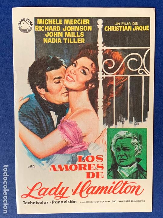 FOLLETO DE MANO LOS AMORES DE LADY HAMILTON. SIN PUBLICIDAD. (Cine - Folletos de Mano - Acción)