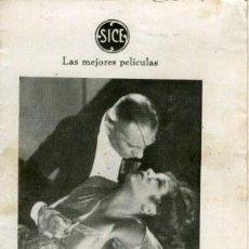 Cine: AMIGOS O RIVALES?. 1933. LILÍ DAMITA, ADOLPHE MEJOU, VON STROHEIM. TRÍPTICO. REVERSO SIN PUBLICIDAD . Lote 166575294
