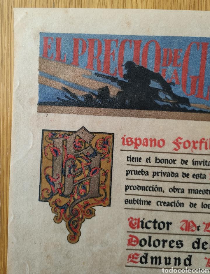 Cine: EL PRECIO DE LA GLORIA - 1926 - PRUEBA PRIVADA - CINE MUDO PATHE CINEMA PROGRAMA DE MANO PUBLICIDAD - Foto 4 - 166605410
